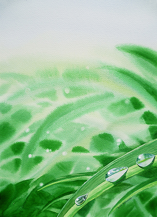 Morning Dew Drops Painting