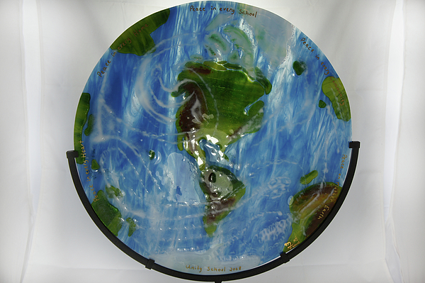 Glass Sculpture - Mother Earth by Michelle Ferry