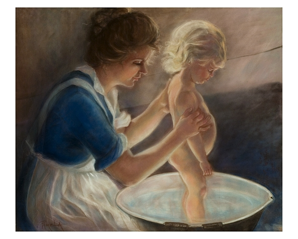 Mother Love-the Bath Painting