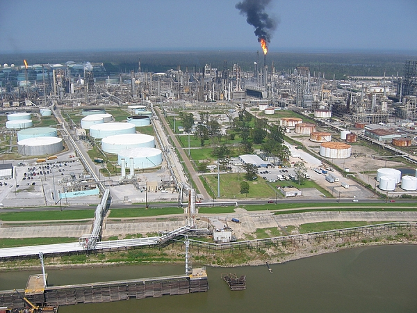 History Photograph - Motiva Petroleum Refinery Is Located by Everett