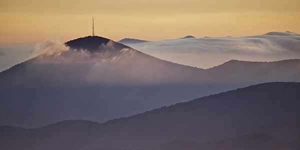 Parkway Photograph - Mount Pisgah In Morning Light - Blue Ridge Mountains by Rob Travis
