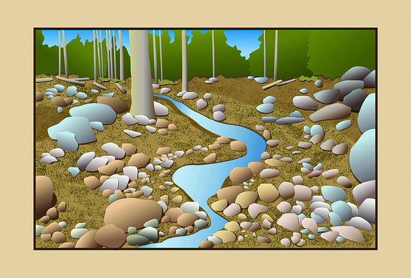 Mountain Stream Digital Art