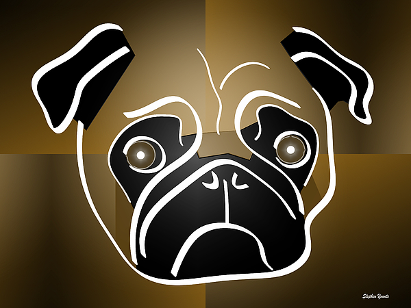 Mug Of A Pug Digital Art