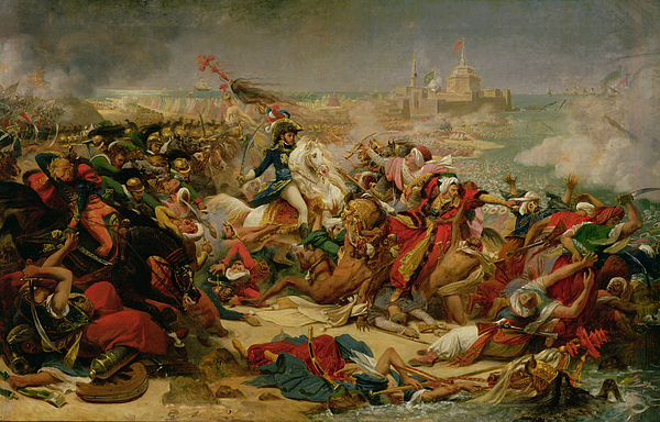 Murat Defeating The Turkish Army At Aboukir On 25 July 1799 Painting