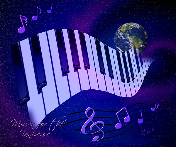 Music For The Universe Digital Art - Music For The Universe by Judi Quelland
