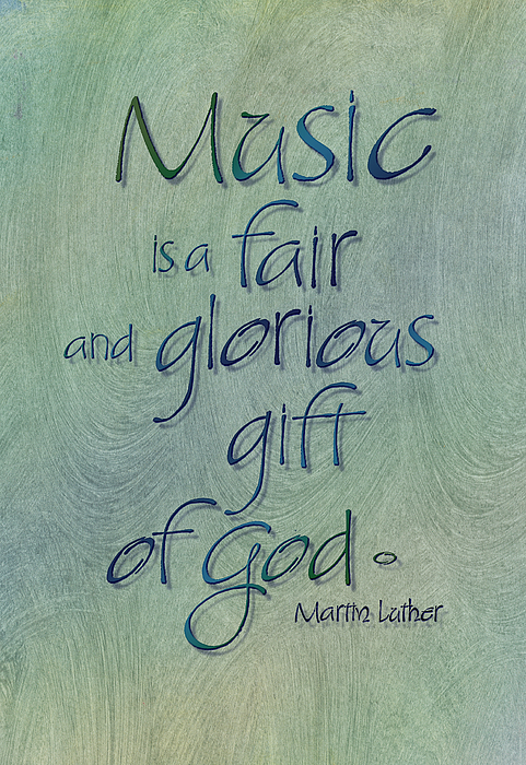Author - Martin Luther Painting - Music Gift by Judy Dodds
