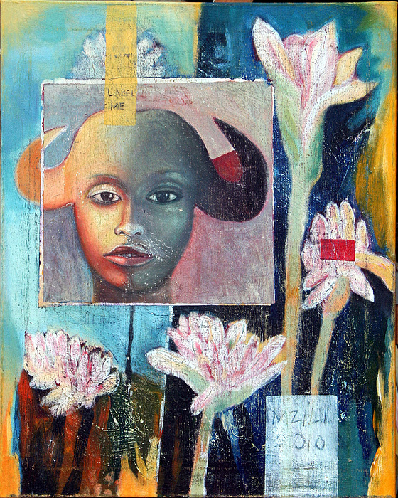 Flowers Painting - Natasha In Bloom by Henry Mzili Mujunga