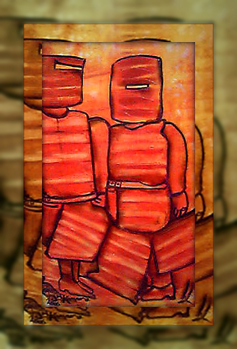 Archispray Painting - Ned Kelly Art - Sunset Killers by Joan Kamaru