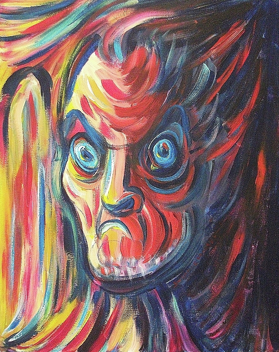 Angry Painting - Neighbor by Suzanne  Marie Leclair