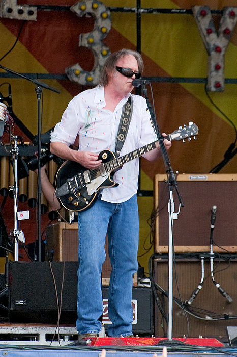 2009 New Orleans Jazz Fest Photograph - Neil Young by Terry Finegan