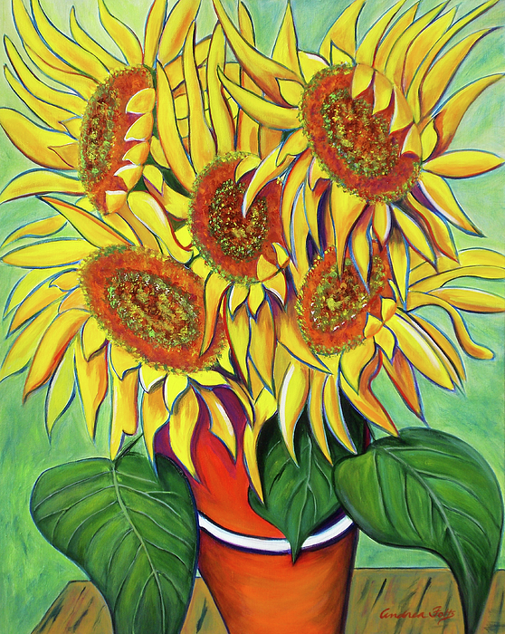 Never Enough Sunflowers Painting