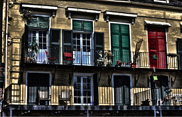 Balcony Photograph - New Orleans Balcony by Cecil Fuselier