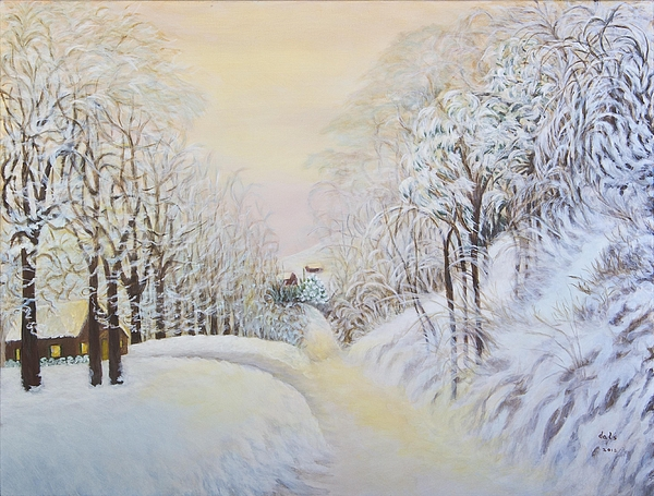 New Snow In Hunting Hills Painting