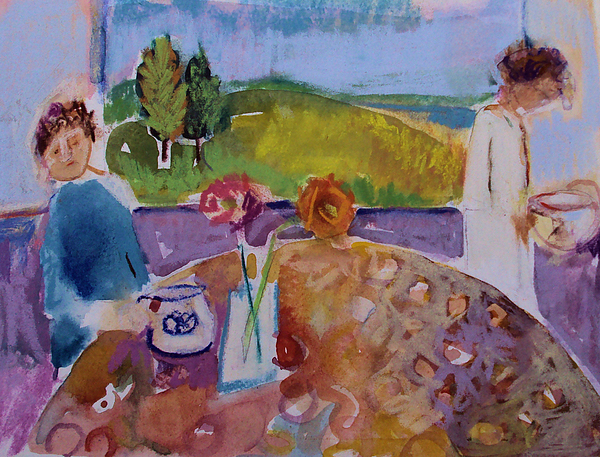 Morning Painting - No Conversation by Diane Ursin