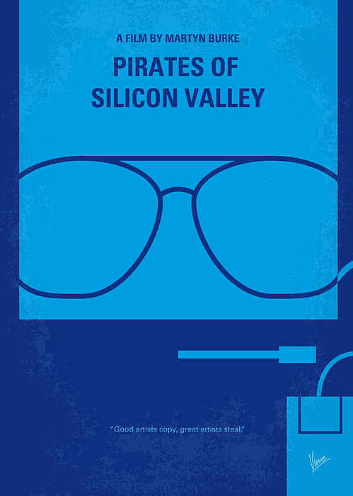 Pirates Digital Art - No064 My Pirates Of Silicon Valley Minimal Movie Poster by Chungkong Art