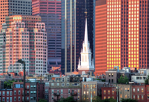 Boston Photograph - North Church Steeple by Susan Cole Kelly