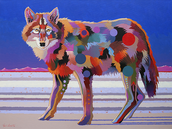 Wolf Paintings Painting - North From Here by Bob Coonts