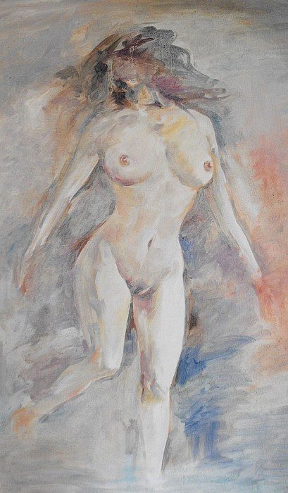 Oil Painting - Nude 1 by Min Wang