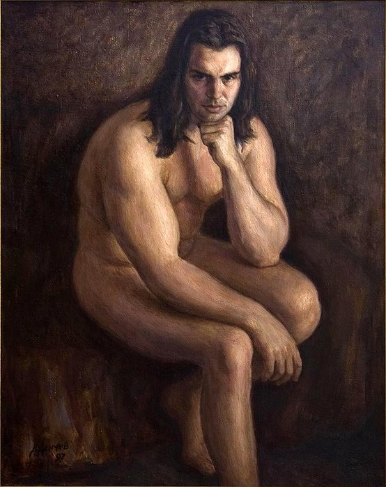 Nude Painting - Nude Man by Dionisii Donchev