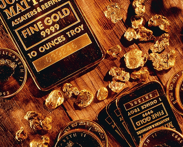Gold Photograph - Nuggets, Bars And Coins Made Of Gold by David Nunuk