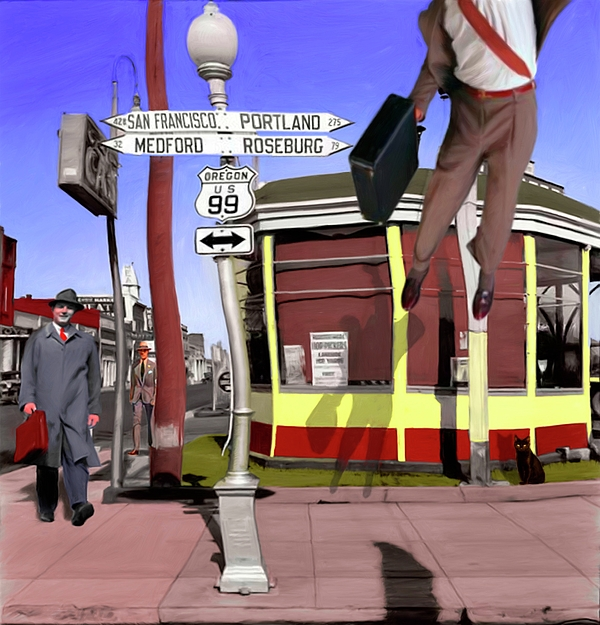City Digital Art - Off To Work by Snake Jagger