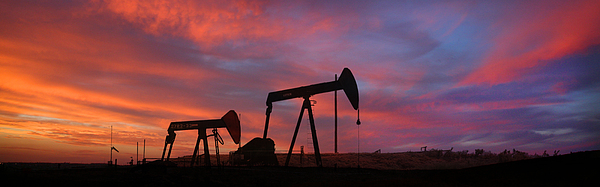 Oil Field Photograph - Oil Field Sunset by Greg Iger