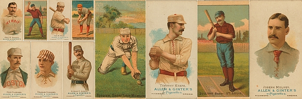 Old Baseball Cards Collage Photograph
