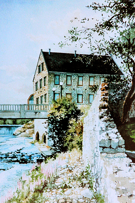 Old Mill Prints Painting - Old Cambridge Mill by Hanne Lore Koehler