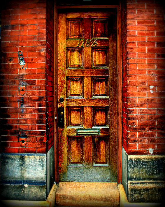 Brick Photograph - Old Door by Perry Webster