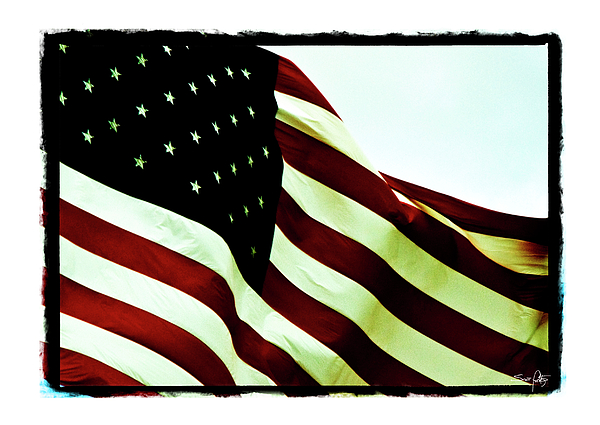 Digital Border Photograph - Old Glory by Scott Pellegrin