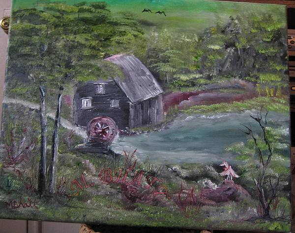 Grist Mill Painting - Old Grist Mill by M Bhatt
