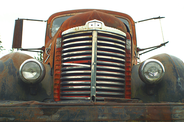Old Cars Photograph - Old International Gravel Truck by Randy Harris