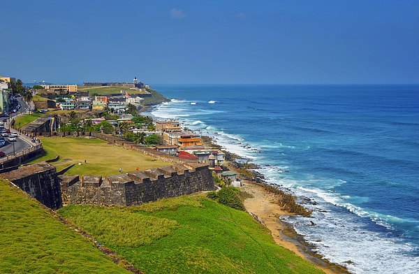 Ocean Photograph - Old San Juan Coastline by Stephen Anderson