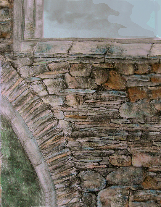 Architecture Drawing - Old Stonework by Orla Cahill