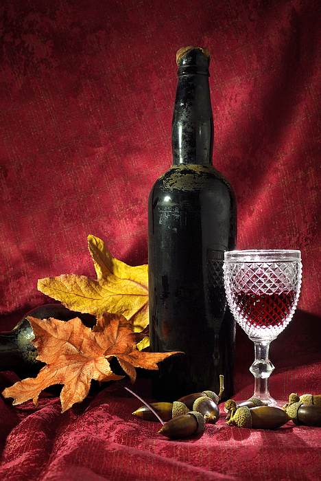 Old Wine Bottle Photograph