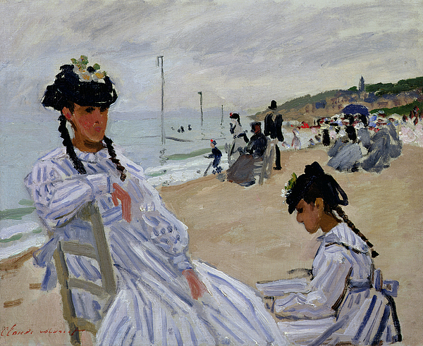 On The Beach At Trouville Painting