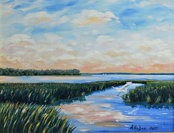 Seascape Painting - On The May River by Stanton Allaben
