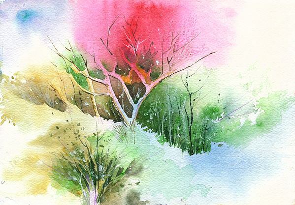 Greenery Painting - One For My Master by Anil Nene