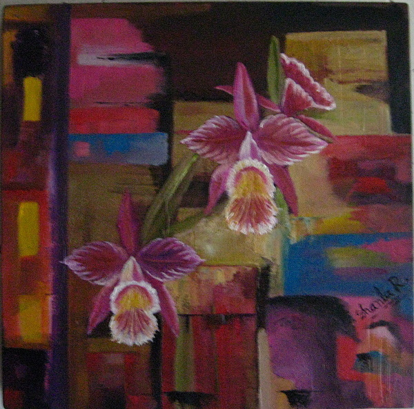 Orchid Painting - Orquideas by Shanta Rathie