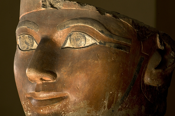 Indoors Photograph - Osiris Statue Face Of Hatshepsut by Kenneth Garrett