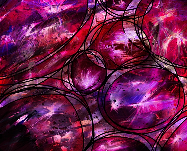 Abstract Digital Art - Other Worlds by Rachel Christine Nowicki
