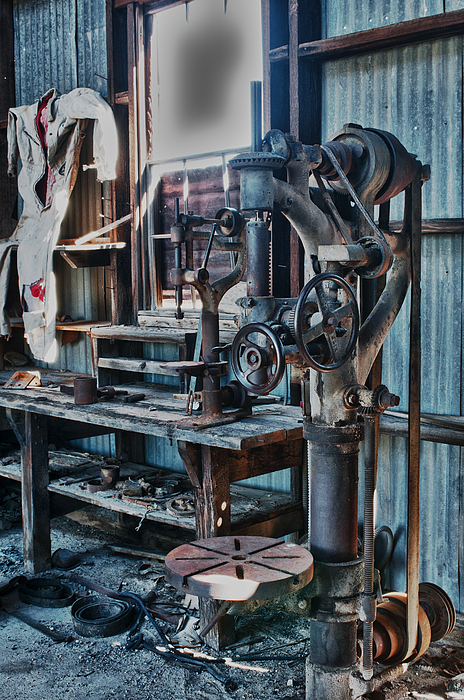Hdr Photograph - Out Of Work by Sandra Bronstein