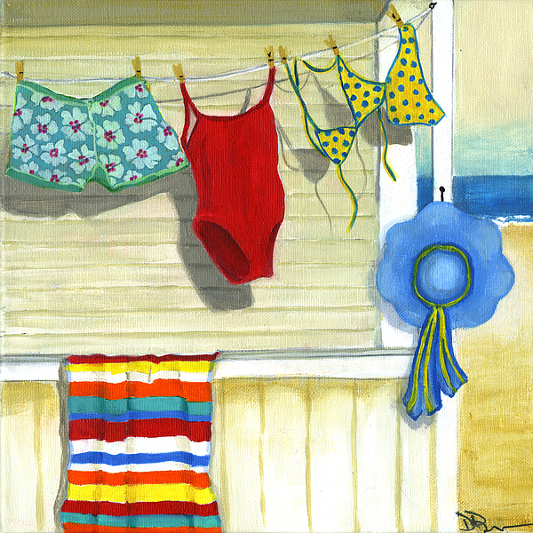Beach Painting - Out To Dry by Debbie Brown