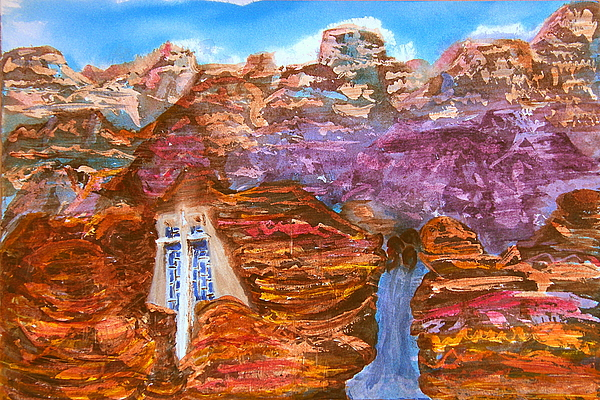 Landscape Painting - Painted Canyon Church by Margaret G Calenda