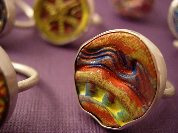 Lynette Fast Jewelry - Painting In A Ring by Lynette Fast