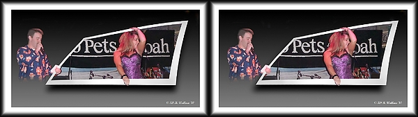 3d Photograph - Pajama Night - Gently Cross Your Eyes And Focus On The Middle Image by Brian Wallace