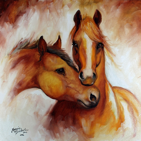 Horse Painting - Pals by Marcia Baldwin