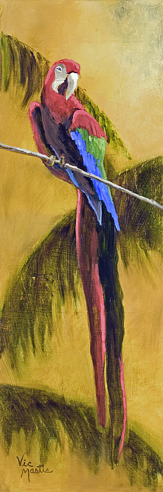 Parrot Painting - Parrot Is A Character With Gold Leaf By Vic Mastis by Vic  Mastis
