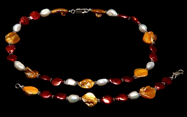 Freshwater Pearls Jewelry - Passion Set by Yael VanGruber