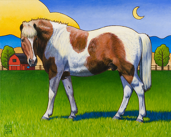 Pony Painting - Patches by Stacey Neumiller